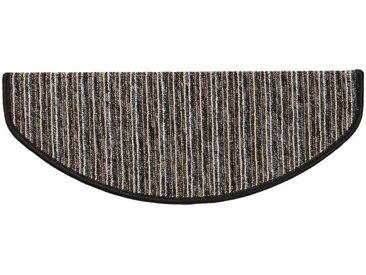 Kubus Stufenmatte »Rom«, Halbrund, Höhe 4 mm, schwarz, Anthrazit