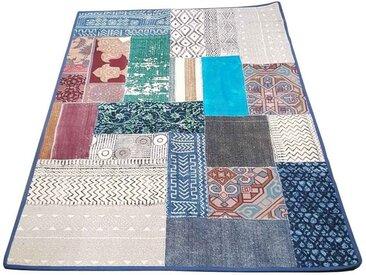 Casa Moro Orientteppich »Patchwork Teppich Babita 120x180 cm (BxL) Kunsthandwerk aus dem Orient, Orient-Teppich im Boho Style für einfach schöner Wohnen«, rechteckig