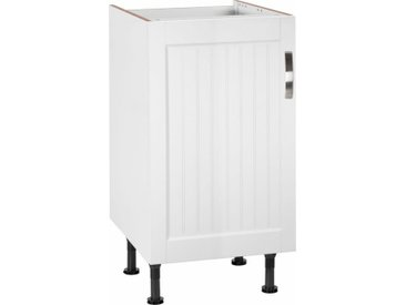 Spülenschrank »Cara« Breite 45 cm, weiß, weiß Landhaus/weiß