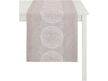 APELT Tischläufer »1114 Loft Style, Jacquard« (1-tlg), rosa, rosé-weiß