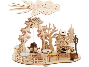 Weihnachtspyramide »Bäckerei«, Teelichtpyramide mit Räucherofen, Höhe ca. 23 cm