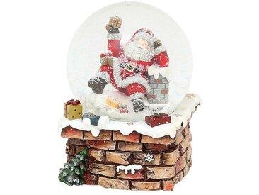SIGRO Schneekugel »Santa auf Schornstein«, bunt, Bunt
