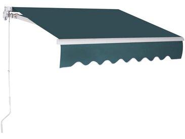 COSTWAY Markise »Sonnenmarkise, Terrassenmarkise, Klemmmarkise« 3 x 2,5 m, mit Kurbel, für Balkon und Veranda, grün, Grün