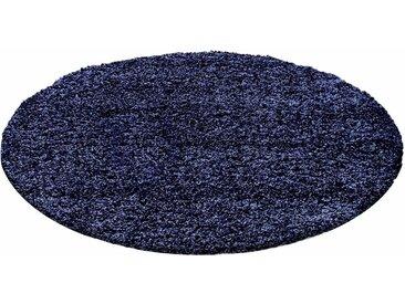 Ayyildiz Hochflor-Teppich »Life Shaggy 1500«, rund, Höhe 30 mm, blau, navy