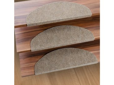 Kubus Stufenmatte »Denver«, Halbrund, Höhe 4.4 mm, Günstiger Stufenschutz, natur, Beige