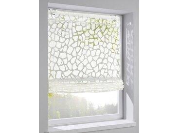 heine home Raffrollo mit dekorativem Muster, weiß, wollweiß