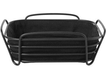 BLOMUS Brotkorb »DELARA«, Stahl, Baumwolle, (1-tlg), 25x25 cm, schwarz, schwarz-silberfarben