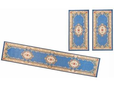 THEKO Bettumrandung »Versailles 501« , höhe 11 mm, (3-tlg), Orient Optik, blau, blau