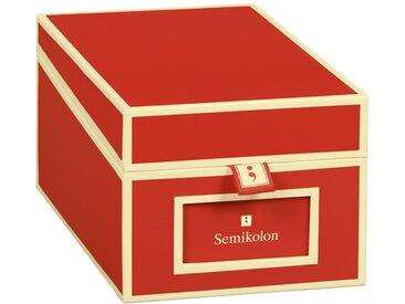 Semikolon Organizer »Visitenkartenbox 10,5 x 8,3 x 18«, rot, Rot