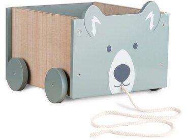 Navaris Spielzeugtruhe, Spielzeugkiste Kiste Aufbewahrung für Spielzeug - Aufbewahrungsbox für Kinderzimmer - 25