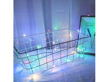 TOPMELON Lichterkette »LED Fotolichterkette«, 40-flammig, mit hölzerne Photo-Clips,Stimmungsbeleuchtung, bunt, 40 St. - 40 St., Mehrfarbig