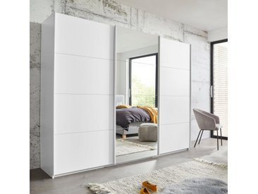 rauch ORANGE Schwebetürenschrank »Kepan« mit umfangreicher Innenausstattung, weiß, weiß