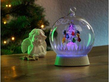 KONSTSMIDE Glaskugel Weihnachtsbaum, weiß, Lichtquelle RGB, Transparent