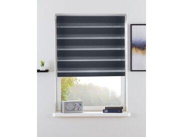 my home Doppelrollo »MARANO«, Lichtschutz, ohne Bohren, freihängend, im Fixmaß, Rollo mit Klemmträger, mit über 3.200 positive Bewertungen, grau, grau