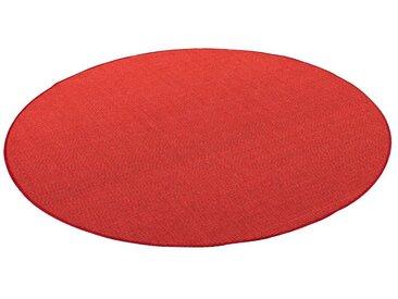 Snapstyle Sisalteppich »Sisal Natur Teppich Rund«, Rund, Höhe 6 mm, rot, Rot