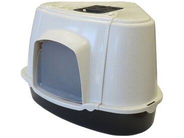 PETGARD Katzentoilette »XXL Katzentoilette ORLANDO CORNER«, speziell für große Katzenrassen weiss-anthrazit