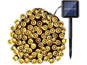 TOPMELON Lichterkette »LED Dekolicht,Solarleuchten«, 100-flammig, Solarenergie betrieben,Wasserdichte, gelb, 100 St. - 100 St., Warmweiß