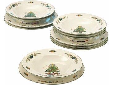 Seltmann Weiden Tafelservice »Marieluise Weihnachten« (12-tlg), Porzellan, Mikrowellengeeignet