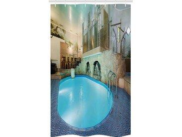 Abakuhaus Duschvorhang »Badezimmer Deko Set aus Stoff mit Haken« Breite 120 cm, Höhe 180 cm, Schwimmbad Spa Resort Relaxing