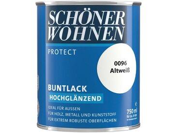SCHÖNER WOHNEN-Kollektion SCHÖNER WOHNEN FARBE Lack »Protect Buntlack«, hochglänzend, 750 ml, altweiß, weiß, weiß