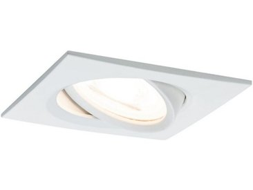 Paulmann LED Einbaustrahler »Nova eckig 1x6,5W GU10 Weiß matt schwenkbar«