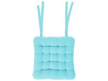 BUTLERS Sitzkissen » SOLID Stuhlkissen L 35 x B 37cm«, blau, Hellblau