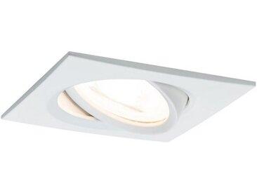 Paulmann LED Einbaustrahler »Nova eckig 1x6,5W GU10 Weiß matt schwenkbar 3-Stufen-dimmbar«