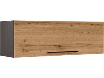 HELD MÖBEL Klapphängeschrank »Tulsa« 100 cm breit, mit 1 Klappe, schwarzer Metallgriff, hochwertige MDF Front, natur, wotaneiche