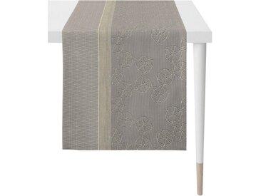 APELT Tischläufer »1304 Loft Style, Jacquard« (1-tlg), grau, taupe-grau