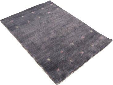 carpetfine Wollteppich »Gabbeh Uni«, rechteckig, Höhe 15 mm, handgewebt mit Tiermotiv, grau, grau