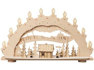 SAICO Original 3D-Lichterbogen Skihütte - Räucherhaus, natur, Natur
