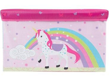 BIECO Spielzeugtruhe »Bieco Aufbewahrungsbox mit Deckel Einhorn 60L