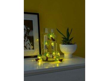 KONSTSMIDE LED Dekolichterkette, grün, Palmen, Lichtquelle warm-weiß, Grün-braun