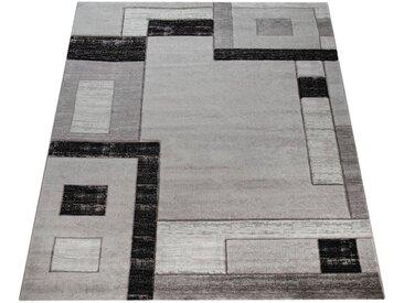 Paco Home Teppich »Florenz«, rechteckig, Höhe 16 mm, Designer Teppich mit Konturenschnitt, grau, grau