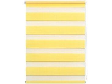 LICHTBLICK Doppelrollo »Duo Rollo Klemmfix«, Lichtschutz, ohne Bohren, freihängend, im Festmaß, gelb, gelb
