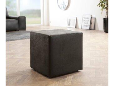 DELIFE Sitzhocker »Dado«, Anthrazit 45x45 cm Antik Optik Sitzwürfel Hocker, grau, Anthrazit
