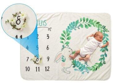 kueatily Babydecke »Baby Monatsdecke,decke, Meilensteinmatten, Neugeborenen-Fotodecke, Fotografie-Hintergrund, Requisite, Baby-Altersdecken, Flanell, für Jungen und Mädchen, (70 x 102 cm)«
