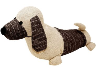 Lashuma Türstopper »Hund«, Türpuffer Bodenstopper schwer gefüllt, braun, Beige