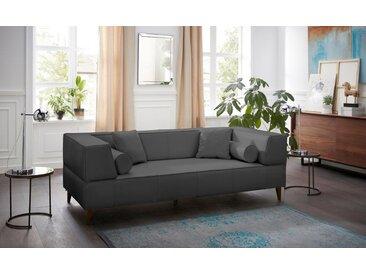 Alte Gerberei 3-Sitzer »Marten«, mit breiten Lehnen, inklusive Zierkissen & Kissenrollen, grau, asphalt