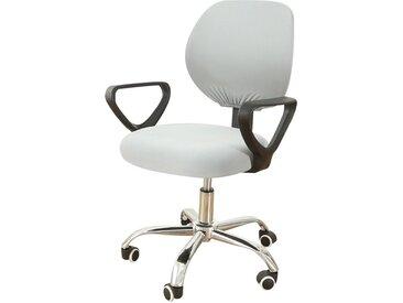 TOPMELON Bürostuhlhusse, (2-tlg/ Paar) Elastisches Material, Bürostuhlbezug, Geteilter Stuhlbezug, grau, Hellgrau