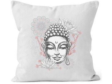 Autiga Dekokissen »Kissenbezug Buddha Buddha-Kopf Mandala Zen Yoga Meditation Deko ®«