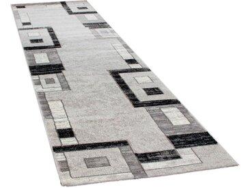 Paco Home Läufer »Florenz 8529«, rechteckig, Höhe 16 mm, Teppich-Läufer, gewebt, Designer Teppich mit Konturenschnitt, grau, grau