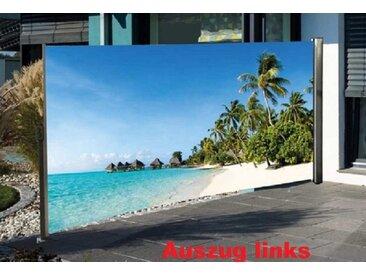 NATIV Garten Seitenmarkise Sichtschutz mit Fotomotiv, 180 x 300 cm, bunt, Auszug links, Südsee