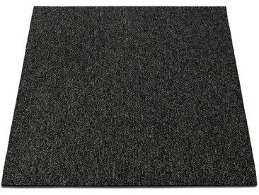 casa pura Teppichfliese »Lyonn«, quadratisch, Höhe 6 mm, Selbstliegend, grau, Dunkelgrau