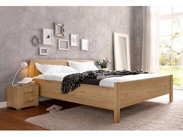 Bett, mit Komforthöhe, braun, ohne Schubkästen, edelbuchefarben