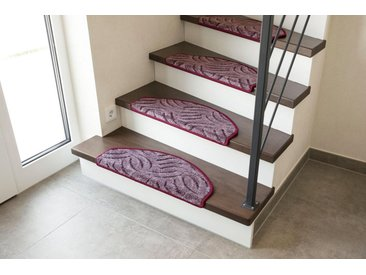 Andiamo Stufenmatte »Amberg«, halbrund, Höhe 9 mm, Set mit 2 Stück oder 15 Stück, Hoch-Tief-Struktur, lila, 2 St., aubergine