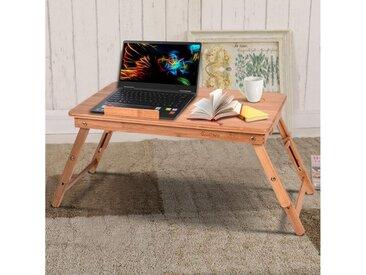 COSTWAY Laptoptisch »Laptoptisch«, Betttisch Höhenverstellbar Notebooktisch Kippbar Bambus faltbar