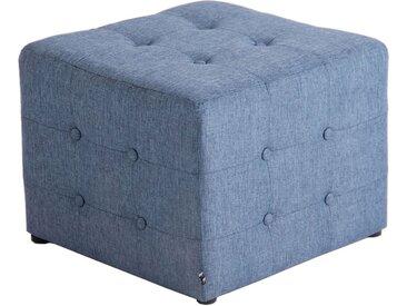 CLP Sitzwürfel »Melbourne Stoff«, gepolstert, blau, blau