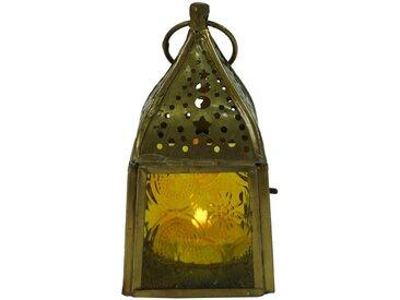Guru-Shop Laterne »Glaslaterne, Windlicht,Teelichthalter aus..«, gelb, gelb-mehrfarbig