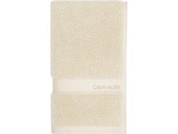 Calvin Klein home Waschlappen »Tracy« (3-tlg), mit Logo, natur, beige